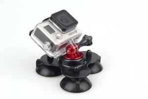 China Universal gopro camera accessories Triple Cup Suction Mount on sale