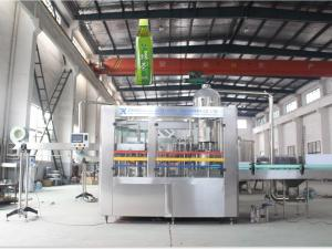 China Full Automatic 3 In 1 Beverage Filling Machine For Juice / Carbonated Drink on sale