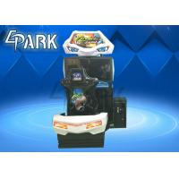 Hardware , Acrylic Material Driving Car Racing Game Machine For Children