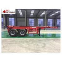 2/3/4 Axles Flatbed Container Trailer Custom Color With 3mm Diamond Plate