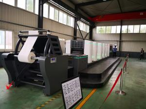 China 4-9 / ColorRoll To Roll Offset Printing Machine For Label 300-650mm Web Width on sale