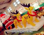 Inflatable Reindeer, Inflatable Snowboard, Inflatable Santa Claus