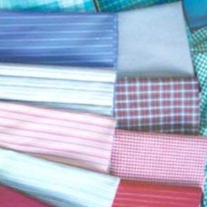 China Woven dyed jacquard stripe poplin plain white cotton fabric on sale