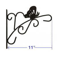 """11"""" heavy duty metal black color butterfly garden hanging basket bracket"""