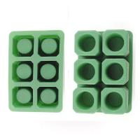 China Durable Silicone Ice Shot Glass Molds , 6 Cups Silicone Square Ice Cube Trays on sale