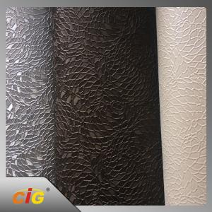 China Plain Knitted Polyurethane Faux Leather For Sofa / Car Seat Cover on sale