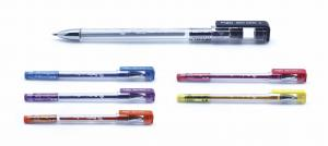 China China manufacturer 1.0mm stick glitter gel ink pen with 6 different colors for artistic creation on sale