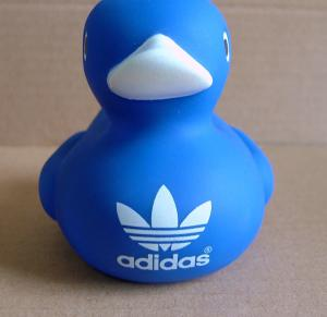 Quality Customized Logo Blue Baby Rubber Duck 8cm Height Promotional Gift 16P Free for sale