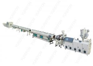 China Water / Gas Plastic Pipe Extrusion Line , Bimetalic Screw PE Plastic Pipe Making Machine on sale