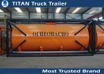 Recipiente do tanque do líquido químico e do óleo diesel 40ft 20ft para o diesel/gasolina/óleo bruto