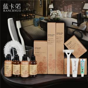 China RANCRNUO 2-4 star hotel amenities sets cheap hotel supplies guest amenities suppliers on sale