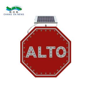 China Europe solar traffic signal battery led traffic road signs board with competitive on sale