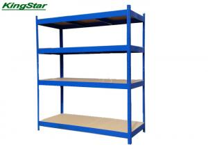 China Blue Boltless Industrial Shelving Heavy Carry With Curved Edge , 180cm Length on sale