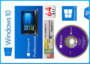 Quality Microsoft Windows 10 Pro Software 64 bit OEM Package original License with for sale