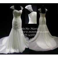 China 2014 Vintage Wedding Dress Cap Sleeve Wedding Dress with Crystal Stones BYB-14566 on sale