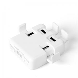 China Multi Function 4 Usb Power Adapter US EU UK Socket For IPHONE / SAMSUNG Phone on sale