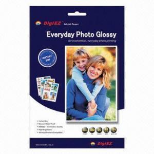 China 220g Glossy Inkjet Photo Paper, A4 Sheet, Waterproof on sale