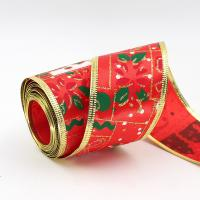 China cheap christmas wired ribbon tree decorative ribbon roll on sale