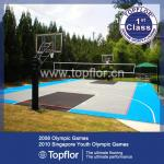 Easily assembled outdoor interlocking basketball flooring