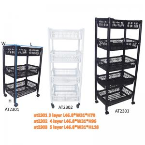 China New PP Material  Plastic laundry  Basket Trolley Wholesale on sale