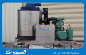China 8000kg Seawater Flake Ice Machine For Home , PLC Touch Screen Controller on sale