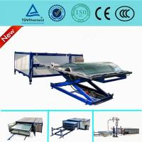 EVA Curved Laminated Glass Machine , Industrial Laminating Machine Autoclave Free