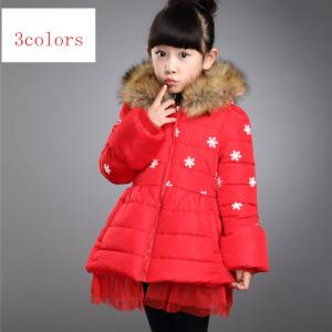 China 2014 new arrival winter childrend clothing,thicken cotton snow girl outwear on sale