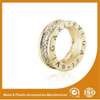 Crystal Gold Silver Wedding Couple Ring , 925 Sterling Silver Couple Ring
