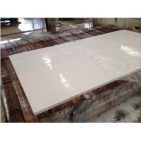 Hotel / Household White Quartz Kitchen Countertops , Custom Edge White Quartz Slab