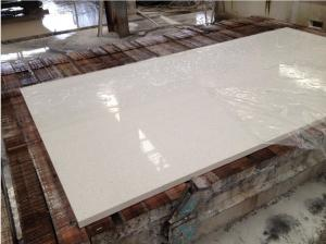 China Hotel / Household White Quartz Kitchen Countertops , Custom Edge White Quartz Slab on sale