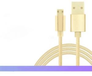China Nylon Braided Micro USB Data Cable With Aluminum Housing Android Devices Suit on sale