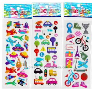 China DIY decorative custom puffy stickers , cartoon foam PVC cute puffy stickers on sale
