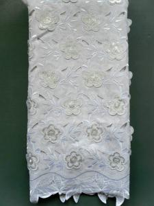 China African Double Organza Applique Laces With Sequence For wedding on sale