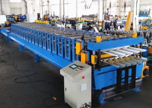 China Double Layer Metal Roofing Sheet Roll Forming Machine With Automatic Stacker on sale