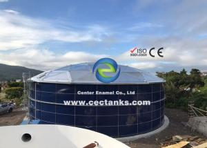 China Large Size Portable Assembly Glass Lined Water Storage Tanks 30 Years Service Life on sale
