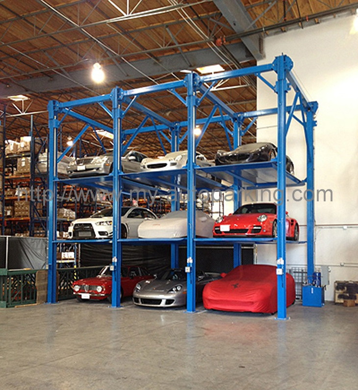 Hydraulic Multilevel Car Stacker Vertical Parking Semi Automatic Garage Car StackingSystem for sale u2013 Four Post Vallet Parking Lift manufacturer from china ... & Hydraulic Multilevel Car Stacker Vertical Parking Semi Automatic ...