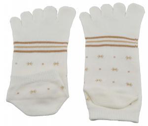 China Custom Made Comfortable Girl's White Five Toe Socks, Moisture Wicking Sock on sale
