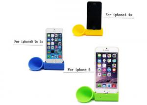 China Multifunction Stand Up Silicone Speakers For Cell / Mobile Phone Music on sale