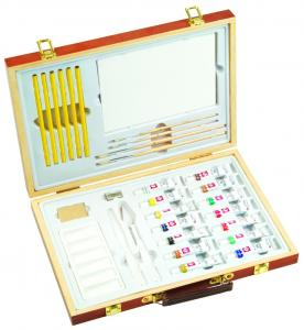 China Professional Childrens Art Set Wooden Box , Durable Artist Acrylic Paint Box Set on sale