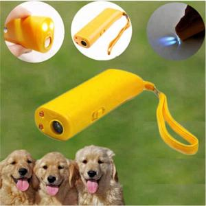 China LED Rechargeable Ultrasonic Dog Repellent Handheld Dog Deterrent to Stop Bark Device on sale