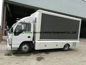ISUZU LED Display Mobile Advertising Trucks , Full Color LED Screen