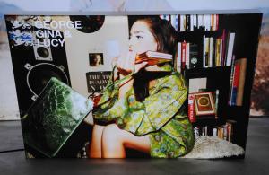 China Ultra Slim Light Box Silicone Edge Graphics Dual Monitor Kiosk Display Expand Dye on sale