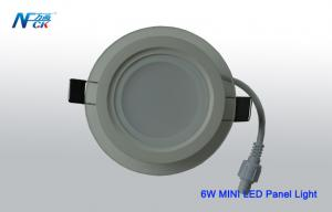China Mini Round 6watt 100 x 40  Mm LED Panel Light White color LED panel with glass on sale