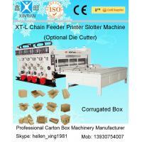 Auto Chain Feeding Flexo Printing Slotting Corrugated Carton Box Making Machine