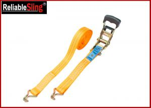 Quality Breaking Strength 50mm 5T Heavy Duty Ratchet Tie Down Strap With One PVC blue label for sale