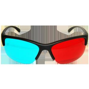 China Fashion women disposable 4c C1S paper clip on Anaglyph 3D Glasses for 3D theater system on sale