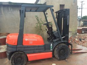 90% New 2 Ton Used Toyota Forklift , Auto Japan Forklift