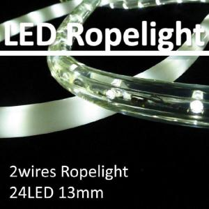 China High quality 24 LED/m 2 wires 13mm round straw LED flexible rope light clear/multi color on sale