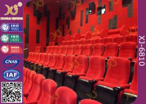 China Fabric Upholstered Folding Theater Seats Returning Seat By Gravity No Noise on sale