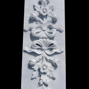 China Marble stone relief wall flower carving panels with polished,China stone carving Sculpture supplier on sale